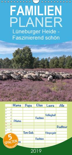 Lüneburger Heide – Faszinierend schön – Familienplaner hoch (Wandkalender 2019 , 21 cm x 45 cm, hoch) von Nack,  Heike