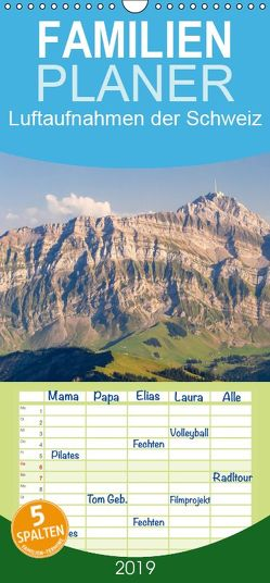 Luftaufnahmen der Schweiz – Familienplaner hoch (Wandkalender 2019 , 21 cm x 45 cm, hoch) von Meyer,  Tis