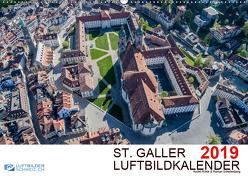 Luftbildkalender St. Gallen 2019CH-Version (Wandkalender 2019 DIN A2 quer) von N.,  N.