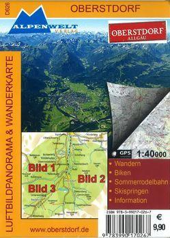 Luftbildpanorama & Wanderkarte – Oberstdorf – Allgäu