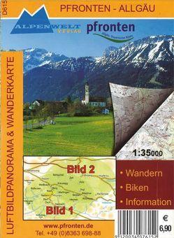Luftbildpanorama & Wanderkarte – Pfronten – Allgäu