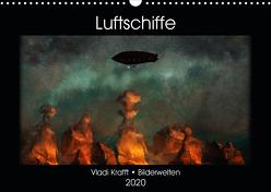 Luftschiffe über fremden Landschaften (Wandkalender 2020 DIN A3 quer) von Krafft,  Vladi