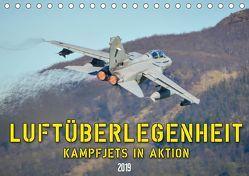 Luftüberlegenheit – Kampfjets in Aktion (Tischkalender 2019 DIN A5 quer) von Wenk,  Marcel