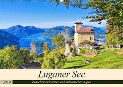 Luganer See – Zwischen Schweizer und Italienischen Alpen (Wandkalender 2019 DIN A2 quer) von LianeM,  k.A.