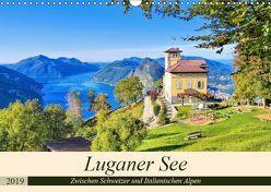 Luganer See – Zwischen Schweizer und Italienischen Alpen (Wandkalender 2019 DIN A3 quer) von LianeM,  k.A.