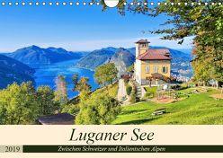 Luganer See – Zwischen Schweizer und Italienischen Alpen (Wandkalender 2019 DIN A4 quer) von LianeM,  k.A.