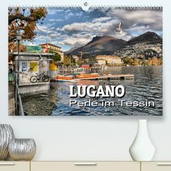 Lugano – Perle im Tessin (Premium, hochwertiger DIN A2 Wandkalender 2020, Kunstdruck in Hochglanz) von Bartruff,  Thomas