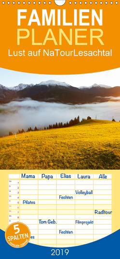 Lust auf NaTour – Lesachtal – Familienplaner hoch (Wandkalender 2019 , 21 cm x 45 cm, hoch) von Riedmiller,  Andreas