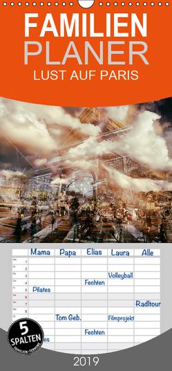 LUST AUF PARIS – Familienplaner hoch (Wandkalender 2019 , 21 cm x 45 cm, hoch) von Kuntze,  Kerstin