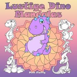 Lustige Dino Mandalas von Fluffy,  Pink