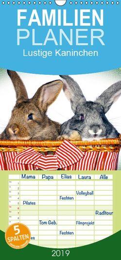 Lustige Kaninchen – Familienplaner hoch (Wandkalender 2019 , 21 cm x 45 cm, hoch) von www.eugenfoto.eu