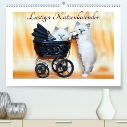 Lustiger Katzenkalender (Premium, hochwertiger DIN A2 Wandkalender 2021, Kunstdruck in Hochglanz) von Chrystal,  Jennifer