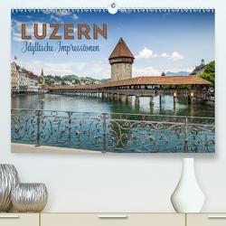 LUZERN Idyllische Impressionen (Premium, hochwertiger DIN A2 Wandkalender 2020, Kunstdruck in Hochglanz) von Viola,  Melanie