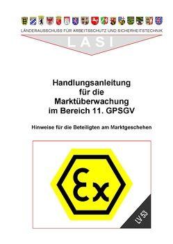LV 53 Handlungsanleitung für die Marktüberwachung im Bereich 11. GPSGV von Aich,  Ursula, Eberle,  Harald, Koehler,  Bernd, Roeddecke,  Steffen, Weinrich,  Wolfgang