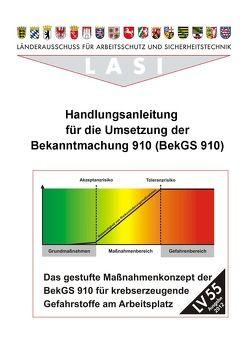 LV 55 Handlungsanleitung für die Umsetzung der Bekanntmachung 910 (BekGS 910) von Brückner,  Bernhard, Röddecke,  Steffen