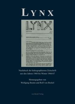 Lynx. Anmerkungen zu Politik und Literatur. von Beutin,  Wolfgang, Bockel,  Rolf von