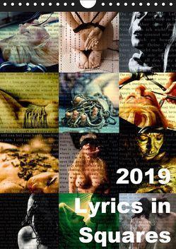 Lyrics In Squares (Wandkalender 2019 DIN A4 hoch) von Meyer-Broicher,  Carina