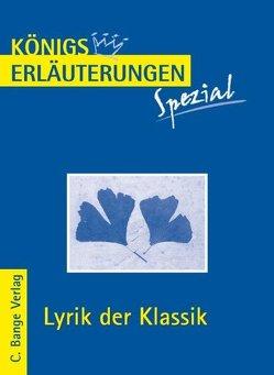 Lyrik der Klassik. von Blecken,  Gudrun
