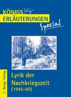 Lyrik der Nachkriegszeit (1945-60). von Blecken,  Gudrun