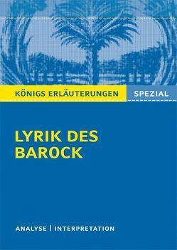 Lyrik des Barock. von Blecken,  Gudrun