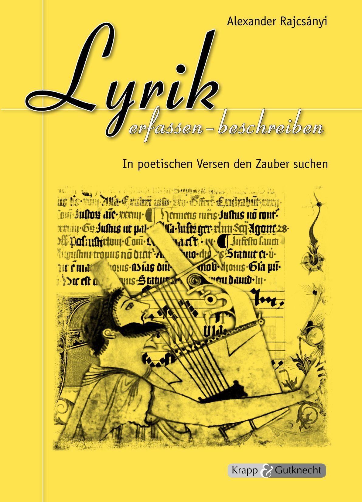 Lyrik erfassen - beschreiben von Rajcsányi, Alexander, Verlag GmbH, K