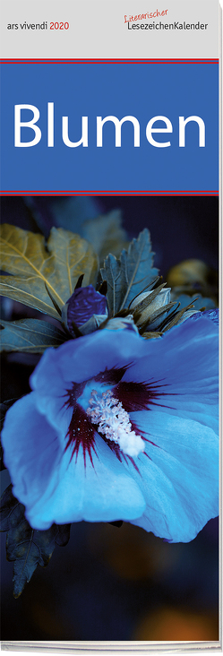 Lesezeichenkalender Blumen 2020 von -