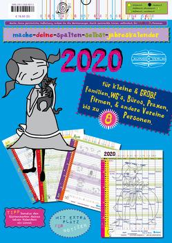 mache-deine-spalten-selbst-jahreskalender 2020 von Lauinger,  Sonia