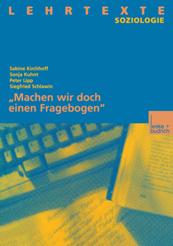 """""""Machen wir doch einen Fragebogen"""" von Kirchhoff,  Sabine"""