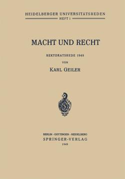 Macht und Recht von Geiler,  Karl