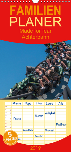 Made for Fear – Der Achterbahnkalender – Familienplaner hoch (Wandkalender 2019 , 21 cm x 45 cm, hoch) von Hermannsdorfer,  Markus