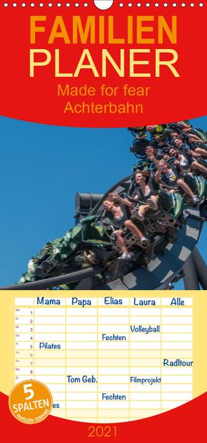 Made for Fear – Der Achterbahnkalender – Familienplaner hoch (Wandkalender 2021 , 21 cm x 45 cm, hoch) von Hermannsdorfer,  Markus