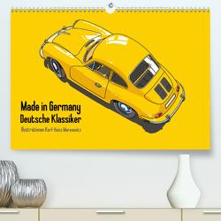 Made in Germany – Illustrationen deutscher Oldtimer (Premium, hochwertiger DIN A2 Wandkalender 2020, Kunstdruck in Hochglanz) von Morawietz,  Karl-Heinz