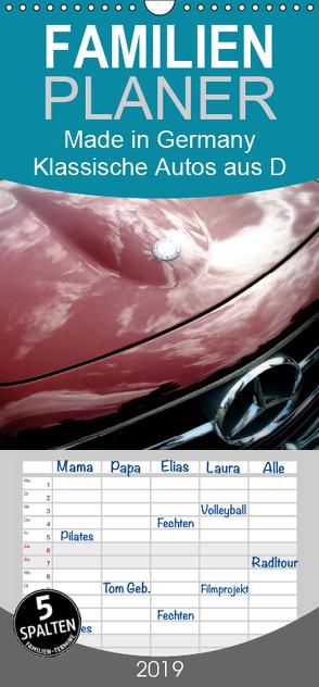 Made in Germany – Klassische Autos aus D – Familienplaner hoch (Wandkalender 2019 , 21 cm x 45 cm, hoch) von Silberstein,  Reiner