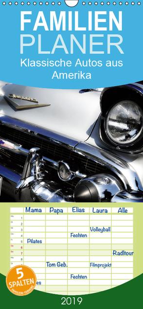 Made in the USA – Klassische Autos aus Amerika – Familienplaner hoch (Wandkalender 2019 , 21 cm x 45 cm, hoch) von Silberstein,  Reiner