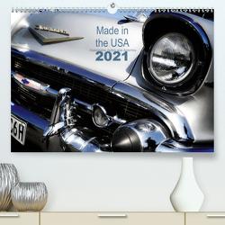 Made in the USA – Klassische Autos aus Amerika (Premium, hochwertiger DIN A2 Wandkalender 2021, Kunstdruck in Hochglanz) von Silberstein,  Reiner