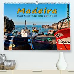 Madeira – blaues Wasser, grüne Berge, bunte Blumen (Premium, hochwertiger DIN A2 Wandkalender 2020, Kunstdruck in Hochglanz) von Roder,  Peter