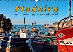 Madeira – blaues Wasser, grüne Berge, bunte Blumen (Wandkalender 2019 DIN A3 quer) von Roder,  Peter