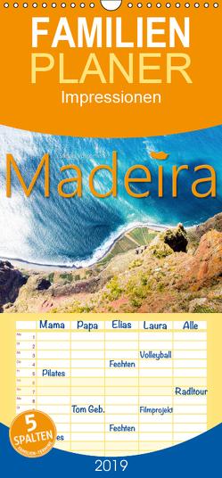 Madeira Impressionen – Familienplaner hoch (Wandkalender 2019 , 21 cm x 45 cm, hoch) von Vossemer,  Stefan
