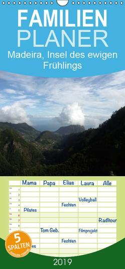 Madeira, Insel des ewigen Frühlings – Familienplaner hoch (Wandkalender 2019 , 21 cm x 45 cm, hoch) von HM-Fotodesign