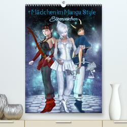 Mädchen im Manga Style (Sternzeichen) (Premium, hochwertiger DIN A2 Wandkalender 2021, Kunstdruck in Hochglanz) von Tiettje,  Andrea