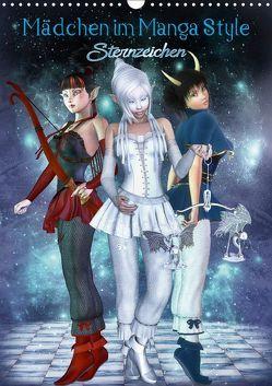 Mädchen im Manga Style (Sternzeichen) (Wandkalender 2018 DIN A3 hoch) von Tiettje,  Andrea