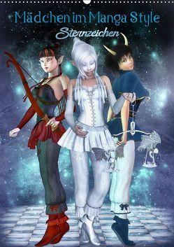 Mädchen im Manga Style (Sternzeichen) (Wandkalender 2019 DIN A2 hoch) von Tiettje,  Andrea