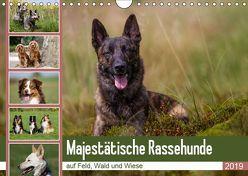Mäjestätische Rassehunde auf Feld, Wald und Wiese (Wandkalender 2019 DIN A4 quer) von Verena Scholze,  Fotodesign