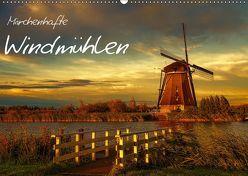 Märchenhafte Windmühlen (Wandkalender 2019 DIN A2 quer) von Wagner,  Sabine