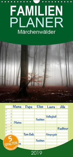 Märchenwälder – Familienplaner hoch (Wandkalender 2019 , 21 cm x 45 cm, hoch) von Warth,  Irma