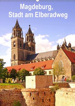 Magdeburg, Stadt am Elberadweg (Wandkalender 2019 DIN A2 hoch) von Bussenius,  Beate