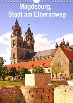 Magdeburg, Stadt am Elberadweg (Wandkalender 2019 DIN A4 hoch) von Bussenius,  Beate