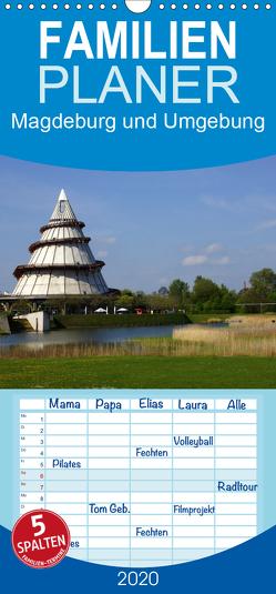 Magdeburg und Umgebung 2020 – Familienplaner hoch (Wandkalender 2020 , 21 cm x 45 cm, hoch) von Bussenius,  Beate