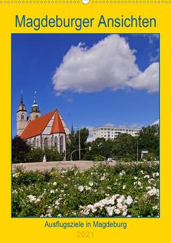 Magdeburger Ansichten (Wandkalender 2021 DIN A2 hoch) von Bussenius,  Beate