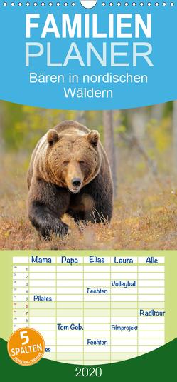 Magie des Augenblicks – Bären in nordischen Wäldern – Familienplaner hoch (Wandkalender 2020 , 21 cm x 45 cm, hoch) von Wisniewski,  Winfried